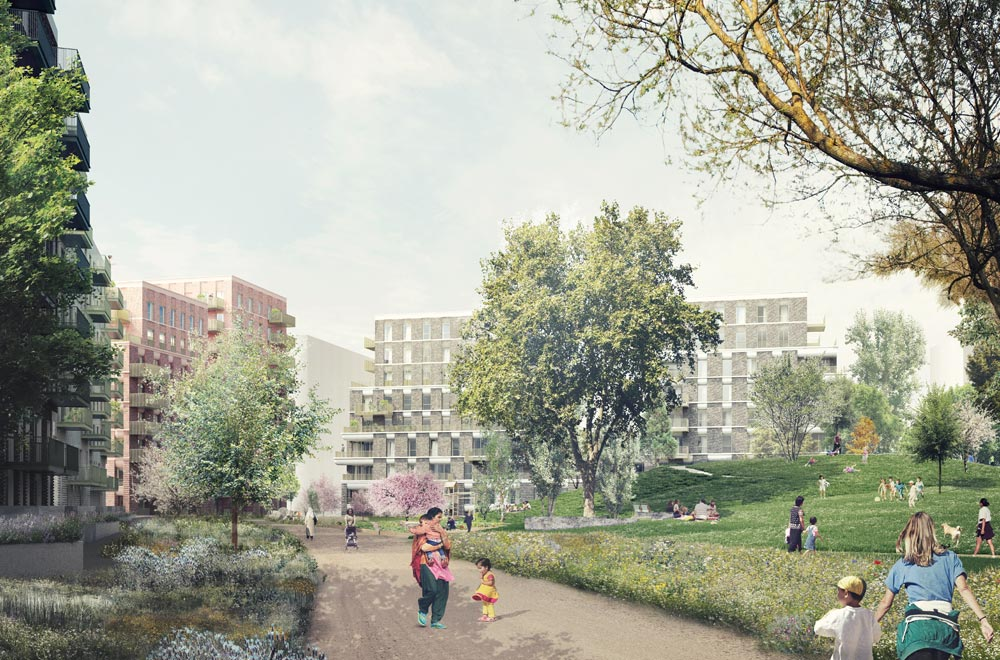 The second phase of the 1700 home masterplan to redevelop the Robin Hood Gardens Estate in Poplar, East London is currently on site. The scheme will deliver 268 new and better homes across four buildings, whilst improving the layout of the estate and enhancing the open space at its heart.
