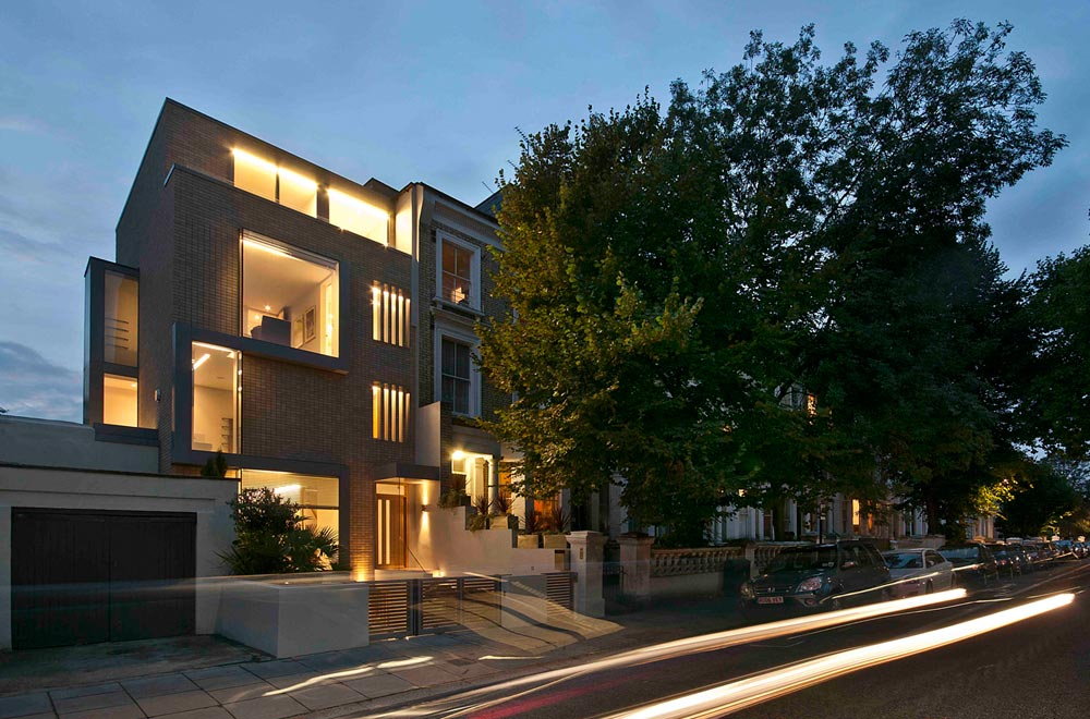 Set amongst the period villas and terraces that surround Holland Park in London's Royal Borough of Kensington and Chelsea the new build family house is arranged over five floors. The house has full width folding glazed doors in the lower two floors, which enables the living spaces to be opened up to the courtyard garden. We provided mechanical and electrical services for the project.