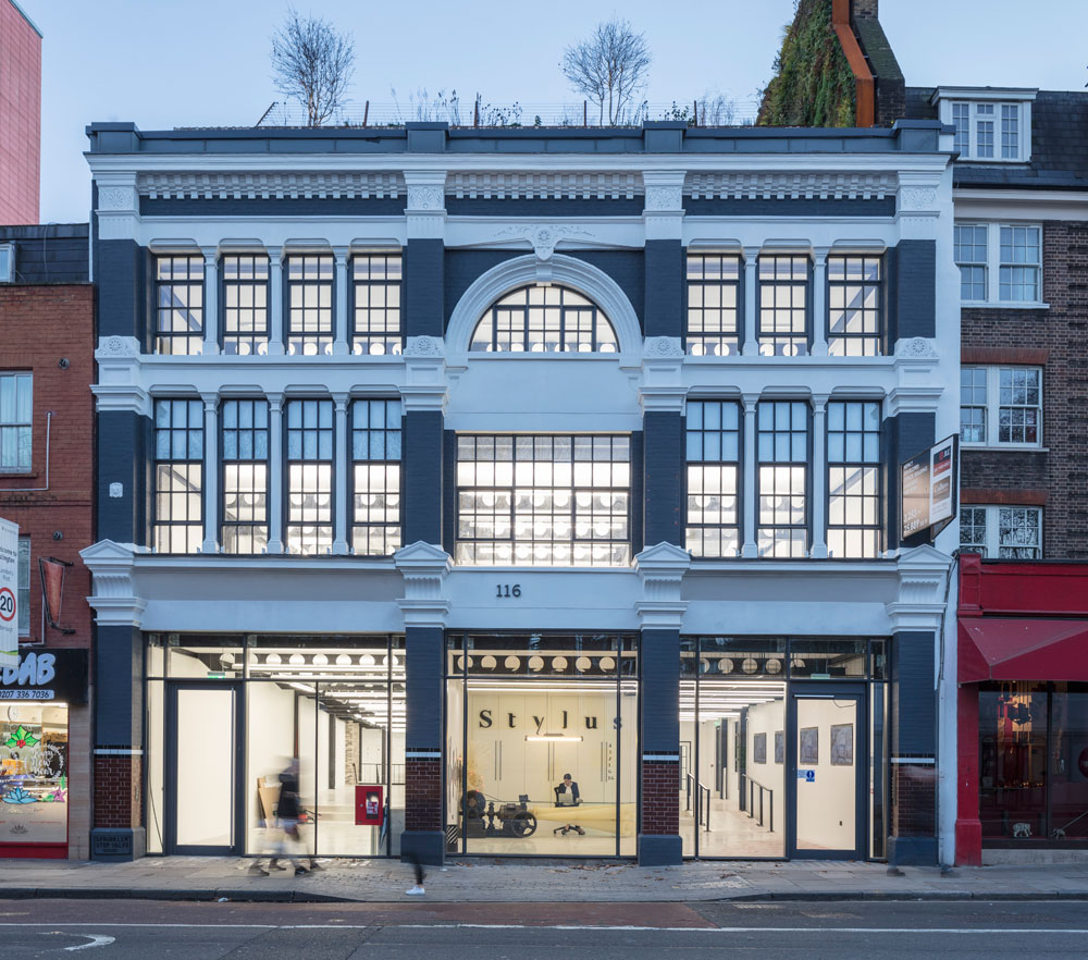 Formerly home to the Margolin gramophone factory, the new building offers 27,000 sq ft of state-of-the-art office space over five floors. The design team worked closely with Islington Council conservation officers on the retention of the original Victorian façade on Old Street.