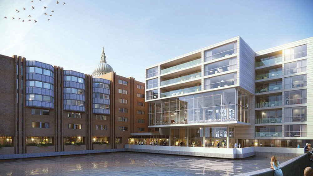 The Westin London City is a new build hotel located on the site of Queensbridge House near St Paul's Cathedral. The hotel will contain 222-rooms, 9 luxury residential apartments, a riverside bar and restaurant which opens onto a new public walkway with views across to the South Bank. Leisure facilities include an indoor swimming pool, fitness centre, spa, business centre and 830sqm of events space including four meeting rooms and ballroom. The project involves comprehensive services coordination with the architectural, interior and structural design for the public areas and guest suites. Existing foundations and basement columns are retained within parts of the site, helping minimise the impact on the Roman remains beneath the site.